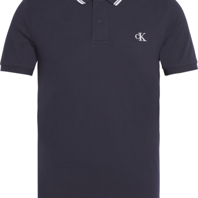 Calvin Klein Slim stretch piqué polo NIGHT SKY / WHITE