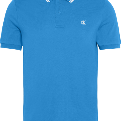 Calvin Klein Slim stretch piqué polo COASTAL BLUE/WHITE