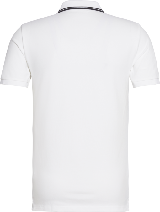 Calvin Klein Slim stretch piqué polo BRIGHT WHITE / BLACK