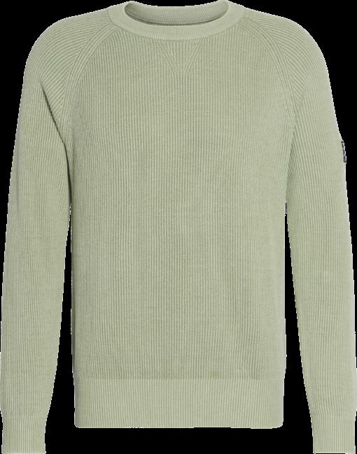 Calvin Klein Raglan trui van gekamd katoen Earth Sage