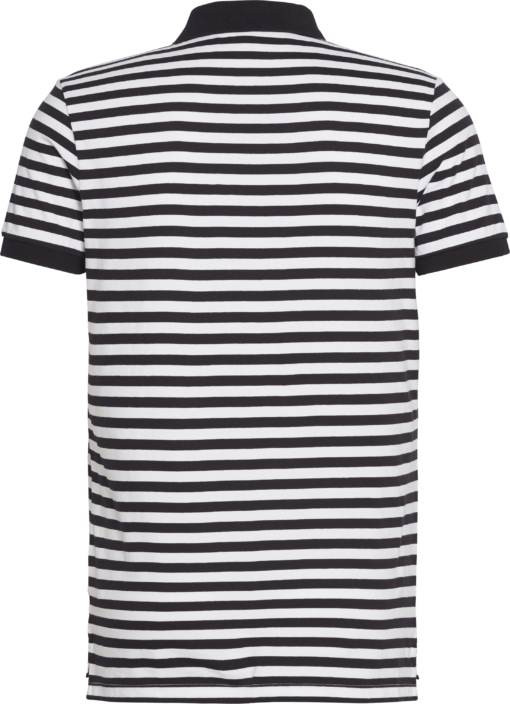 Calvin Klein Gestreept polo met logo CK BLACK/WHITE