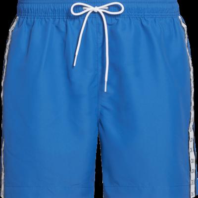 Calvin Klein Medium zwemshort met trekkoord - Core Mono Tape SNORKEL BLUE