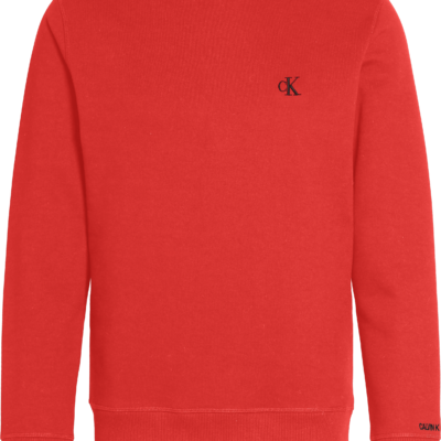 Calvin Klein Sweatshirt van fleece-katoenmix Racing Red