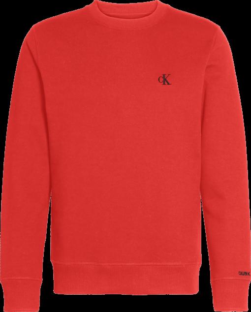 Calvin Klein Sweatshirt van fleece-katoenmix Racing Red