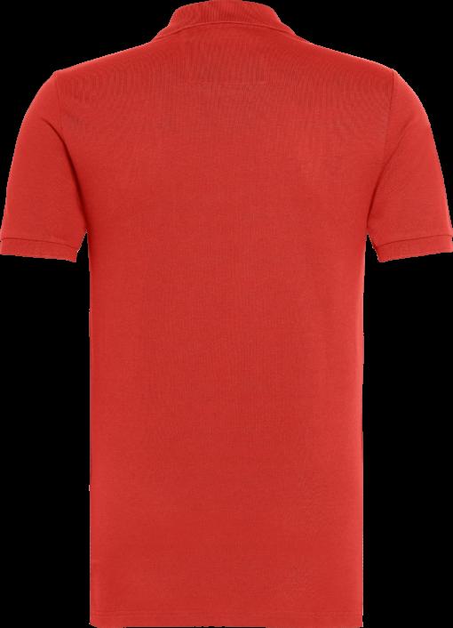 Calvin Klein Slim piqué katoenen polo Racing Red