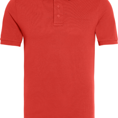 Calvin Klein Slim piqué katoenen polo Racing Red