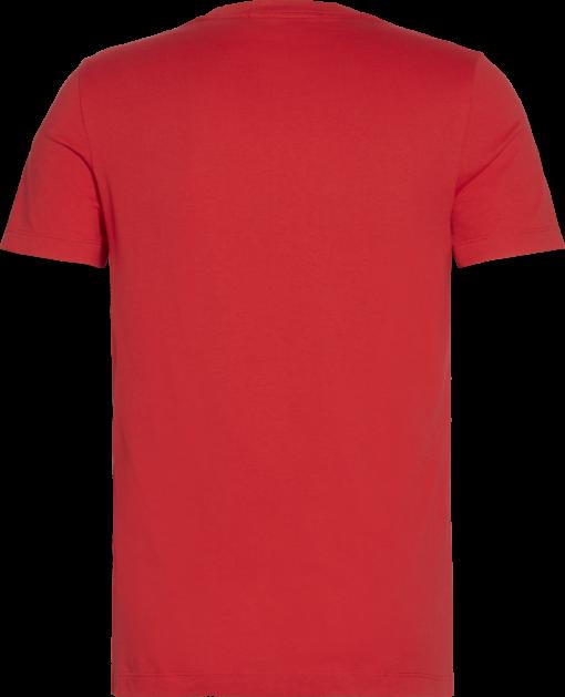 Calvin Klein Slim T-shirt van biologisch katoen Racing red