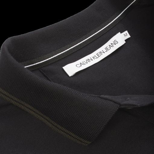 Calvin Klein Slim stretch piqué polo BLACK/RAVEN