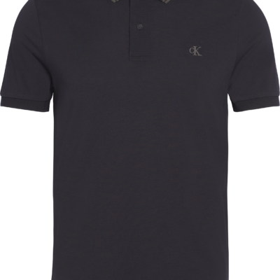 Calvin Klein Slim stretch piqué polo BLACK/RAVEN