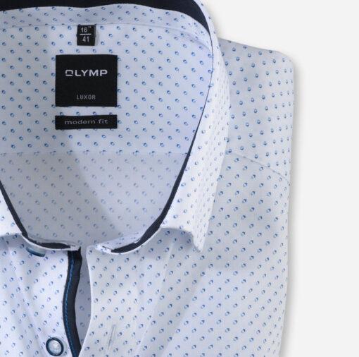 OLYMP Luxor, modern fit, Button-Under, Wit