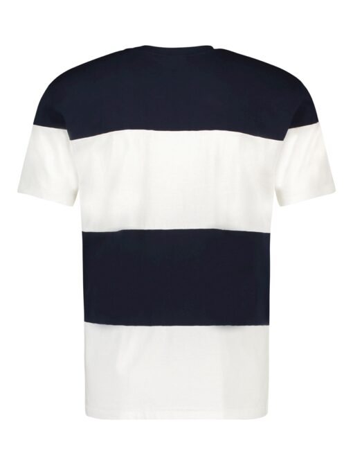Purewhite Reversed Logo Panel T-shirt Navy White