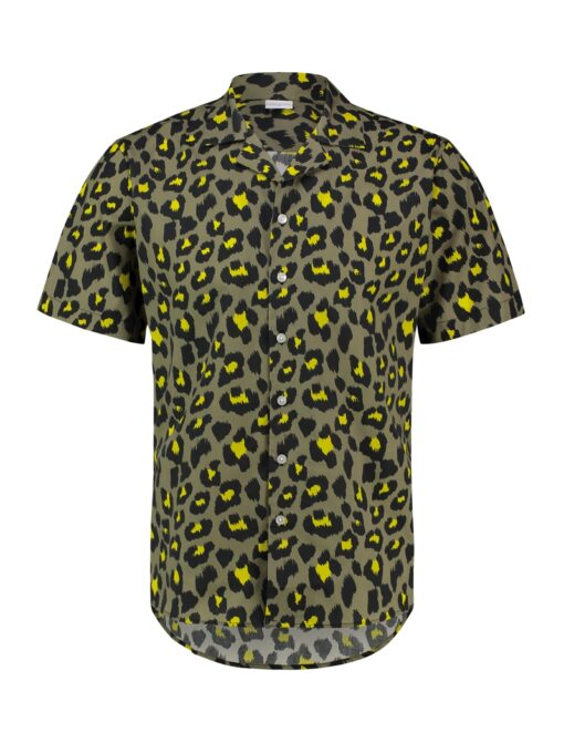 Purewhite Leopard Print Shirt Green