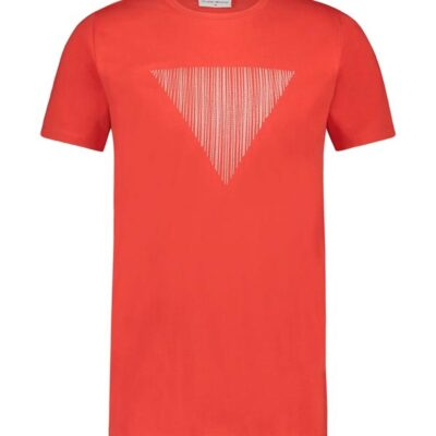 Purewhite Embroidered Triangle T-shirt Red