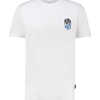 Purewhite Wave Logo T-shirt White