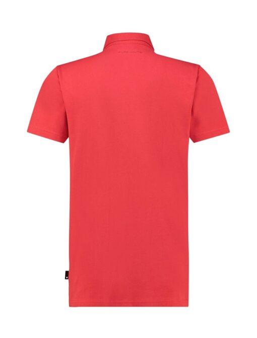 Purewhite Wave Logo Polo Red