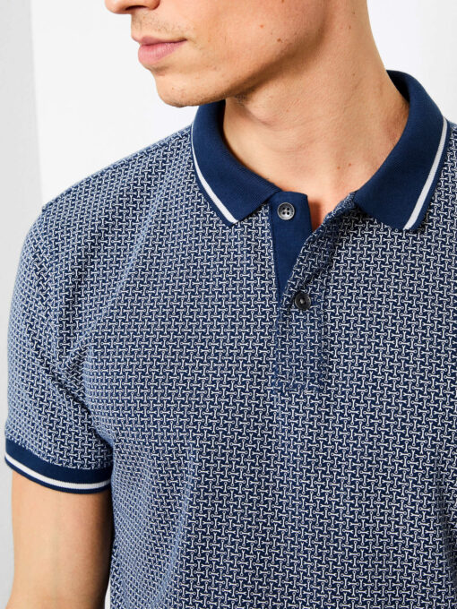 Petrol Industries All-over print polo Dark Turquoise