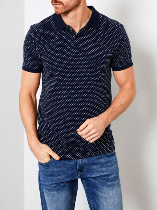 Petrol Industries Stippen polo Deep Navy