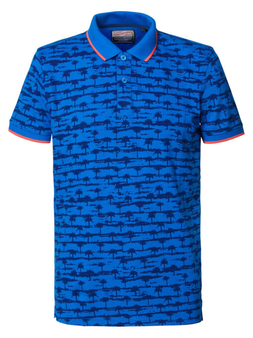 Petrol Industries All-over print polo Electric Blue