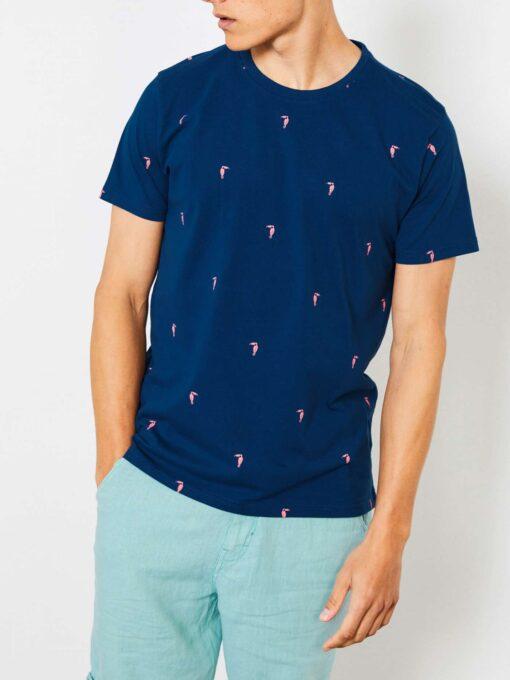Petrol Industries Miniprint T-shirt Dark Capri