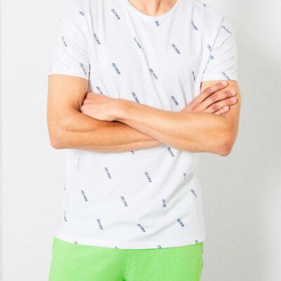 Petrol Industries Petrol miniprint T-shirt Bright White
