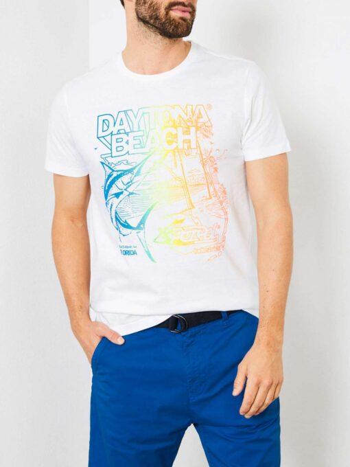 Petrol Industries Daytona beach T-shirt Bright White