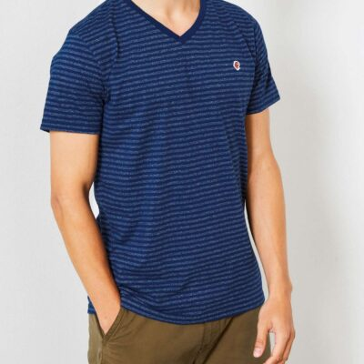 Petrol Industries StripedV-neck Dark Capri