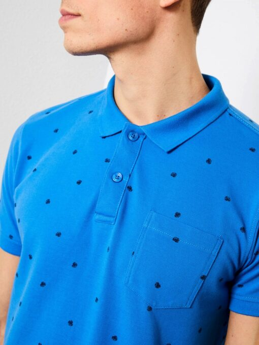 Petrol Industries All-over print polo Antartic Blue