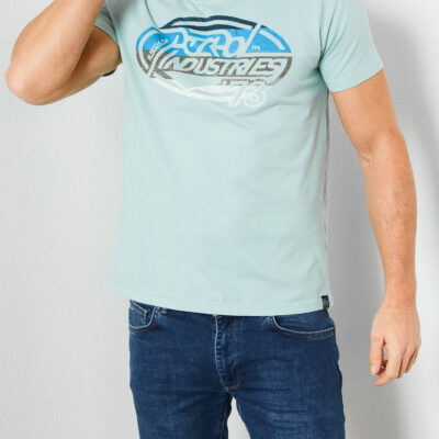 Petrol Industries T-shirt met logo artwork Faded Pine