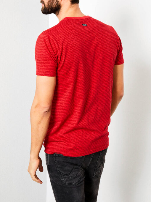 Petrol Industries T-shirt all over logo print signal red