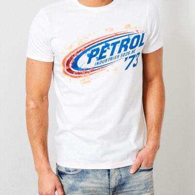 Petrol Industries Artwork T-shirt Bright White