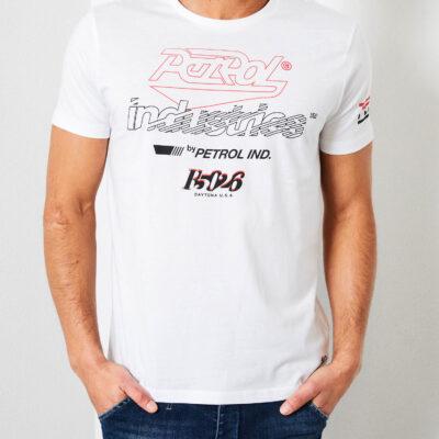 Petrol Industries Logo artwork T-shirt Bright White