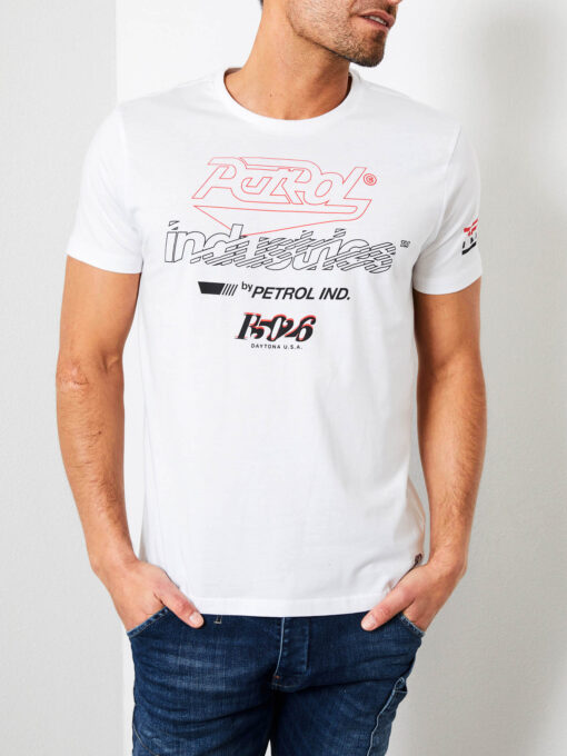 Petrol Industries Logo artwork T-shirt Bright White