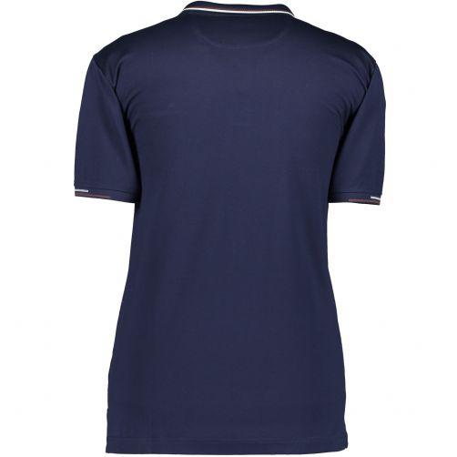 State of Art Poloshirt met paspelzak Marine blauw/uni