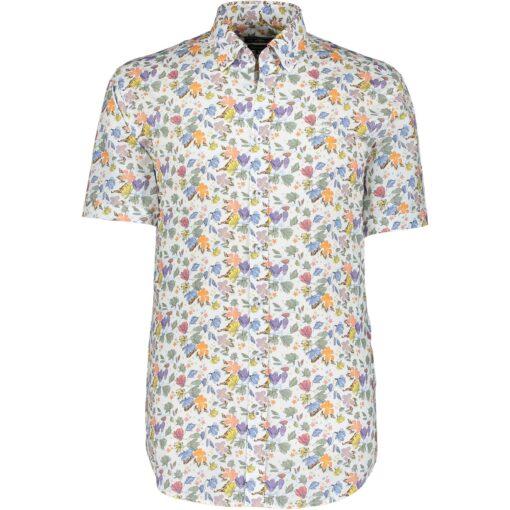 State of Art Bedrukt overhemd met regular fit oranje/wit