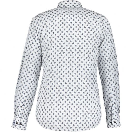 State of Art Stretch overhemd met katoen Cognac/Kobalt