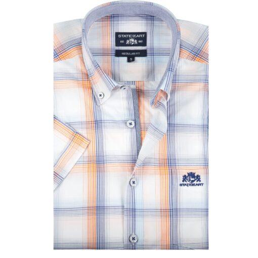 State of Art Geruit overhemd met regular fit