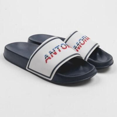 Antony Morato Slippers in Faux Leder en Rubber Blauw