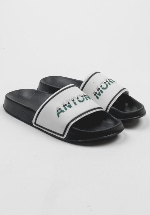 Antony Morato Slippers in Faux Leder en Rubber Zwart