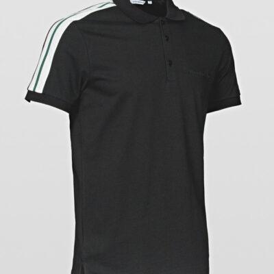 Antony Morato Polo contrast fabric and tape black