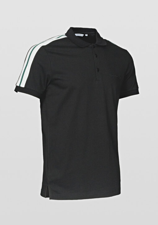 Antony Morato Polo contrast fabric and tape black