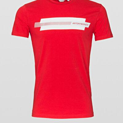 Antony Morato Slim Fit T-Shirt Rood reflecterende print
