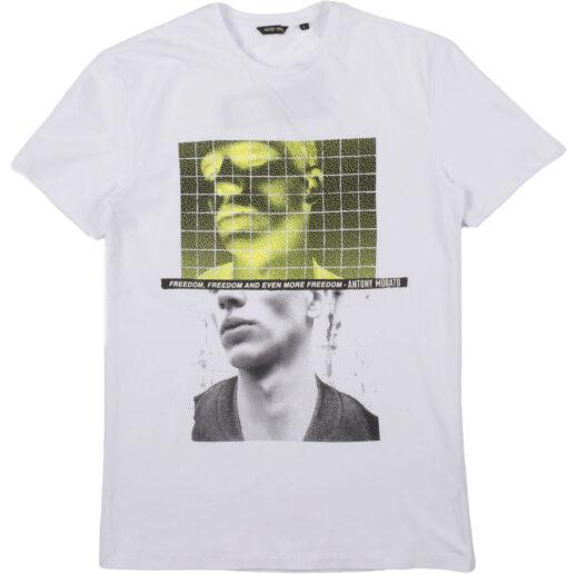 Antony Morato Slim fit T-shirt Wit met Print