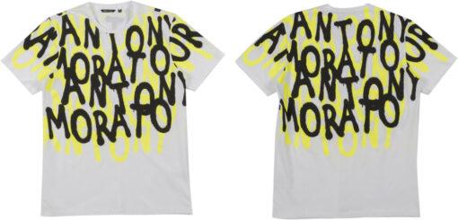 Antony Morato REGULAR-FIT T-SHIRT WIT NEON LOGO PRINT
