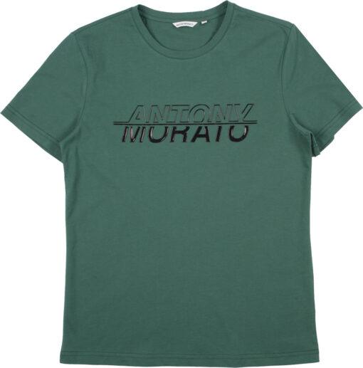 Antony Morato T-shirt Emerald Borstlogo Zwart