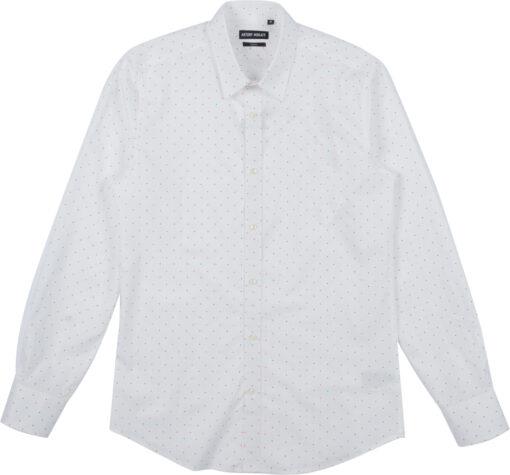ANTONY MORATO Super slim-fit overhemd wit stippen print