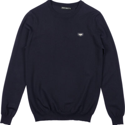 ANTONY MORATO CREW-NECK SWEATER IN BLUE INK