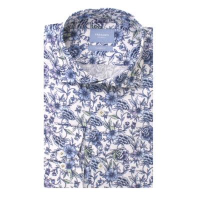 TRESANTI KATOENEN OXFORD OVERHEMD MET BLOEMEN PRINT - TAILORED FIT