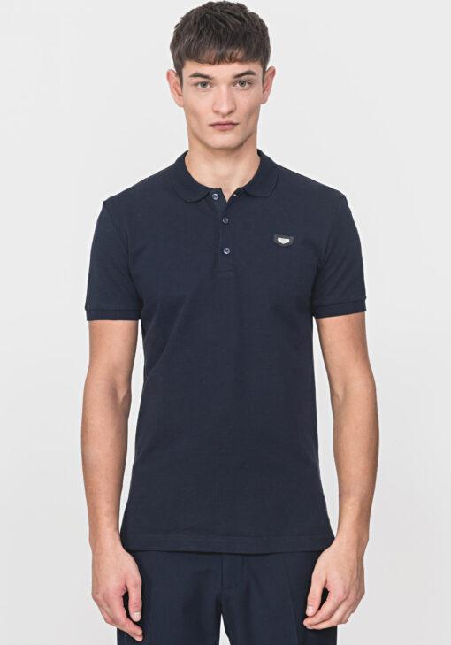Antony Morato Polo Shirt Piqué Blue Ink