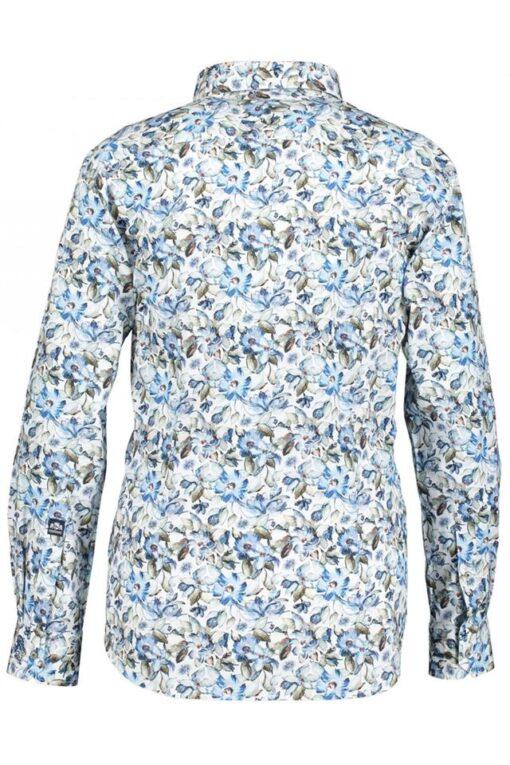 State of Art overhemd met bloemenprint wit/blauw/groen