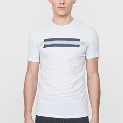 Antony Morato Slim Fit T-Shirt Wit reflecterende print